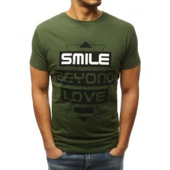T-shirt męski z nadrukiem zielony (rx3062)
